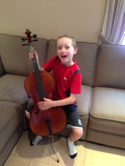 Hayden and his cello